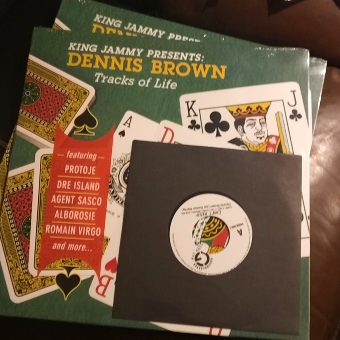 King Jammy Presents Dennis Brown - Tracks Of Life LP + 7