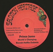"Prince Jamo - World Is Changing / Bosrah Hoffin Dubmix / Messenger Douglas - Praise Him play / Praise Hoffin Dub 12"" Salomon Heritage"